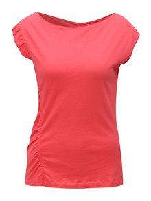Korálové tričko s volánom Skunkfunk Hamasei