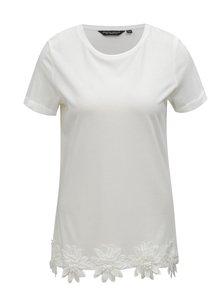 Bílé tričko s nášivkami Dorothy Perkins