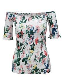 Bílé květované pružné tričko Dorothy Perkins