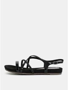 Sandale negre cu aspect lucios Tamaris