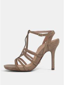 Svetlohnedé semišové sandále Tamaris