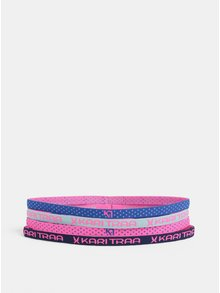 Sada čtyř čelenek do vlasů v neonově růžové barvě Kari Traa Kari
