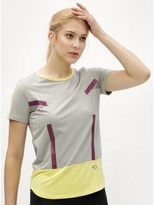 Šedo-žluté tričko Kari Traa Anita Tee