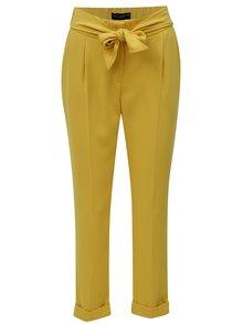 Žlté skrátené voľné nohavice Dorothy Perkins