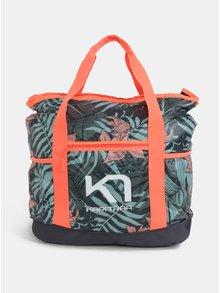 Zeleno-oranžová vzorovaná športová taška Kari Traa Røthe