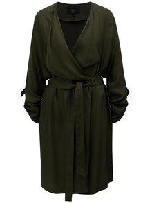 Khaki lehký kabát s 3/4 rukávy Dorothy Perkins