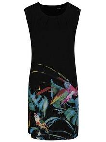 Černé šaty s potiskem a flitry Desigual Calypso