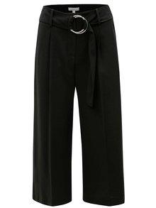 Čierne culottes s vysokým pásom Dorothy Perkins Petite