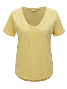 Tricou galben oversize Jacqueline de Yong Darry