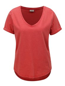Tricou rosu oversize Jacqueline de Yong Darry
