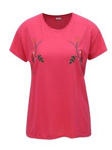 Tricou roz oversize cu print Jacqueline de Yong Nixon
