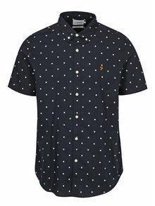 Tmavomodrá vzorovaná slim fit košeľa Farah Ray