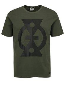Khaki pánské tričko s potiskem Jack & Jones Glandale