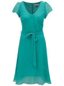 Zelené šaty s véčkovým výstřihem Billie & Blossom