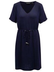 Rochie albastru inchis cu snur in talie Dorothy Perkins