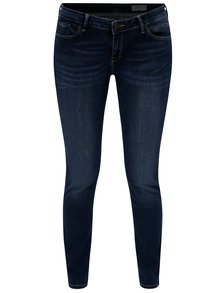 Blugi de dama super skinny albastru inchis din denim - Cross Jeans Adriana