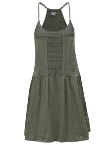 Zelené šaty s krajkou Roxy White Beaches