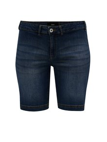 Pantaloni scurti albastru inchis regular fit din denim Zizzi
