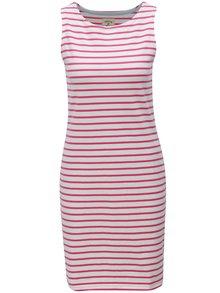 Ružovo-biele pruhované šaty Tom Joule Jersey