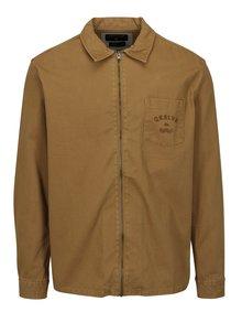 Hnedá pánska rifľová bunda Quiksilver