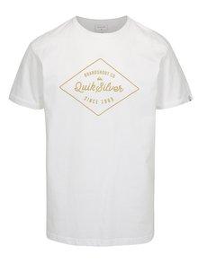 Tricou barbatesc alb regular fit cu print Quiksilver