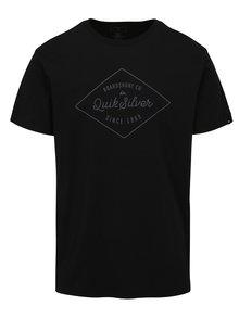 Čierne pánske tričko s potlačou Quiksilver