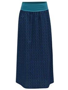 Tmavomodrá vzorovaná maxi/balónová sukňa Tranquillo Chirita