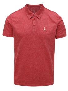 Červené žíhané polo tričko Mr.Sailor