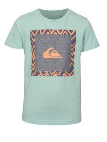 Mentolové chlapčenské modern fit tričko s potlačou Quiksilver