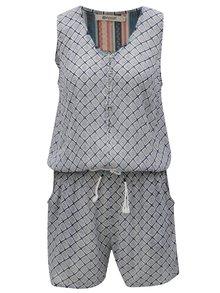Šedo-modrý dámský vzorovaný overal Rip Curl