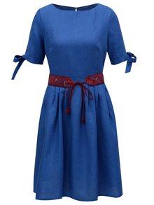 Modré ľanové šaty Bohemian Tailors Fermina