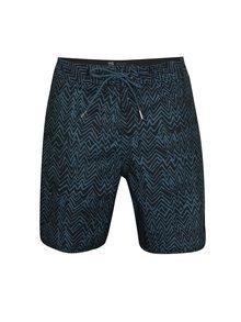 Tmavě modré pánské vzorované plavky Quiksilver