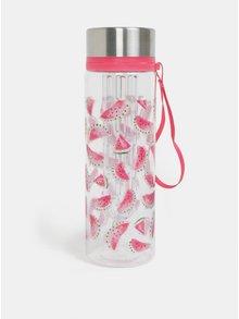 Transparentná fľaša na vodu s motívom melónov Cath Kidston