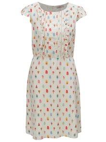 Krémové šaty s motívom nanukov Cath Kidston