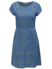 Modré rifľové šaty s motívom citrónov Cath Kidston