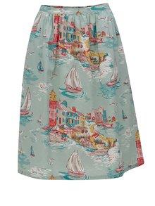 Svetlozelená vzorovaná sukňa Cath Kidston