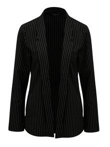 Čierne tenké pruhované sako TALLY WEiJL