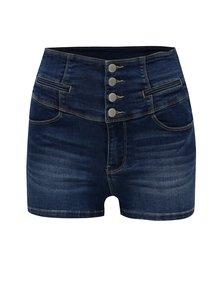 Modré džínové kraťasy s vysokým pasem TALLY WEiJL