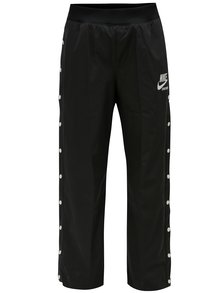 Pantaloni negri de dama cu capse pe lungimea piciorului Nike pant