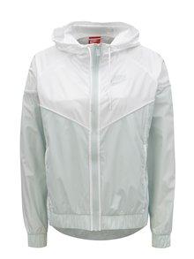 Bielo–mentolová dámska tenká bunda na zips Nike