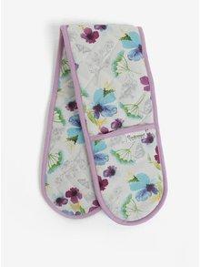 Bielo-fialové chňapky s kvetovaným motívom Cooksmart