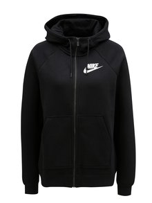 Čierna dámska mikina na zips Nike Rally