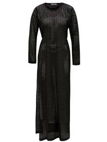 Rochie maxi neagra cu model perforat Alexandra Ghiorghie Pelin