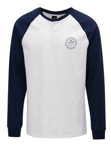 Modro–biele pánske tričko s gombíkmi VANS Denton