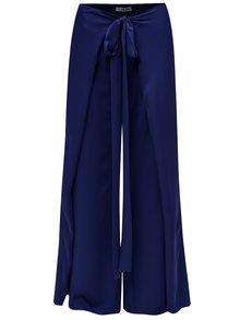 Modré voľné nohavice so zaväzovaním Alexandra Ghiorghie Bent