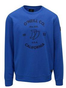 Modrá pánska mikina s potlačou O'Neill Boulevard