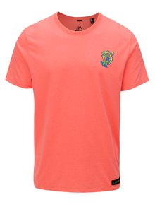 Neonově oranžové pánské regular fit tričko s potiskem na zádech O'Neill Beach