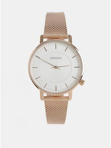 Dámské hodinky v růžovozlaté barvě Komono Harlow
