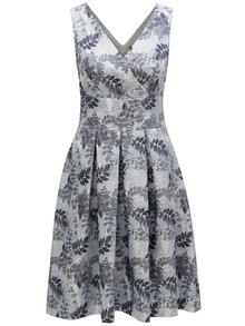 Rochie albastru deschis cu model floral si decolteu suprapus Dorothy Perkins