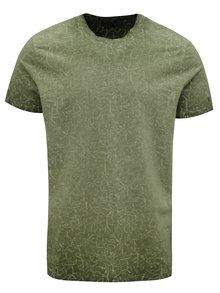 Zelené pánske vzorované tričko Garcia Jeans